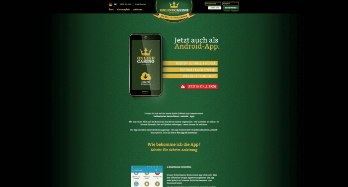 Onlinecasino De App